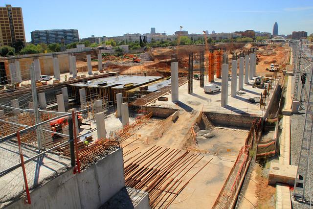 Zona nueva estación de La Sagrera - SUR - 14-09-12
