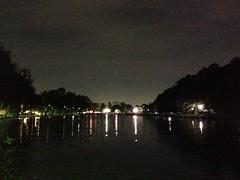涼しい風が吹く、夜の石神井公園