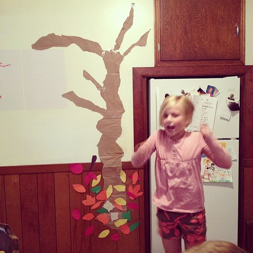 Building the thankful tree.