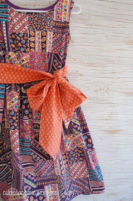 Pattern try: mary's fancy sash dress