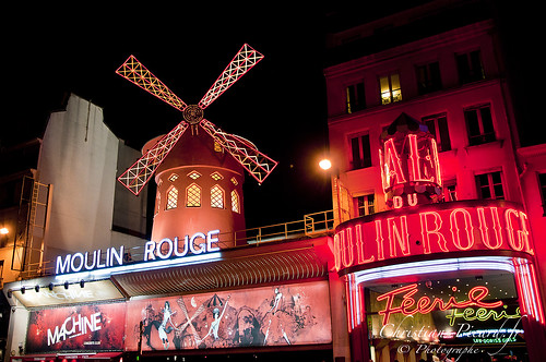Paris place de pigalle Moulin Rouge, Paris Square Pigalle mill red