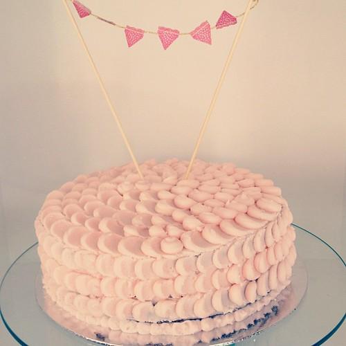Chocolate and Raspberry Petal Cake