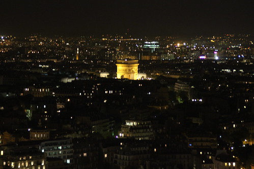 Paris from lower level of tower