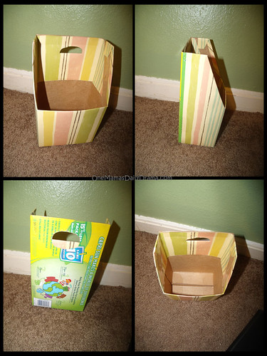 Diy electronic charger storage from a capri sun box Charger cord organizer diy