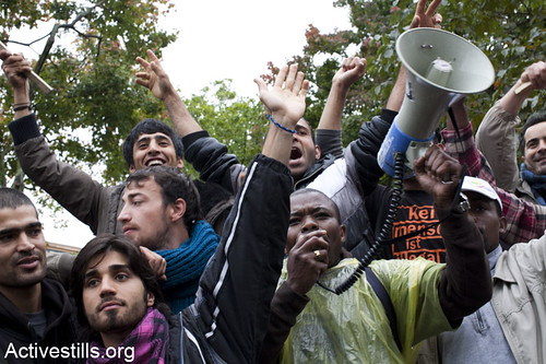 Refugee March to Berlin, Germany, 3-6/10/2012