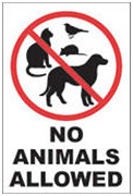 no animals property guiding