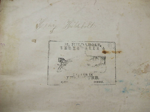 Stamp for H. Hildabolt Undertaker and Dealer in Furniture