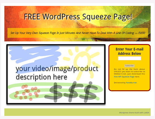 Free WordPress Squeeze Page