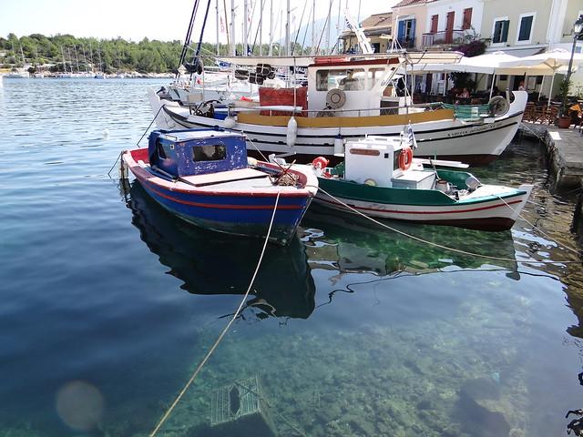 Fishing Boats in Fiscardo on Kefalonia Island Greece
