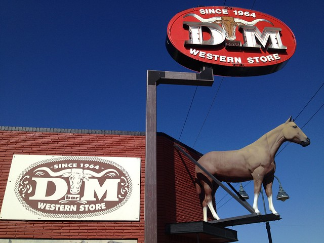 D Bar M Western Store sign
