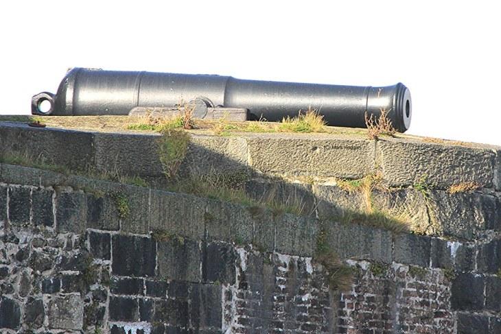 A canon on Carrickfergus Castle