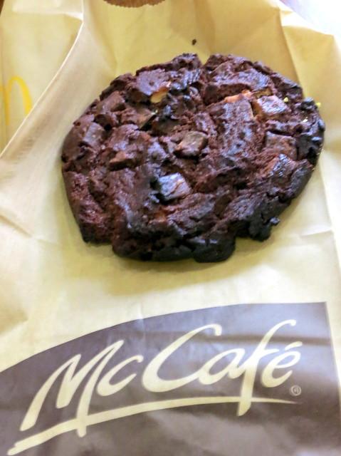 McCafe Barcelona- triple chocolate cookie €1.50