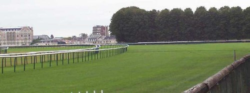 The turf track at Chantilly, France.