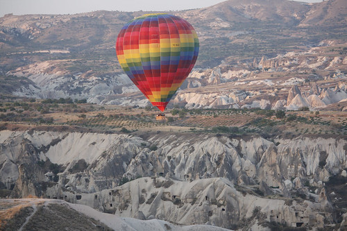 Flying over Cappadocia (Turkey)