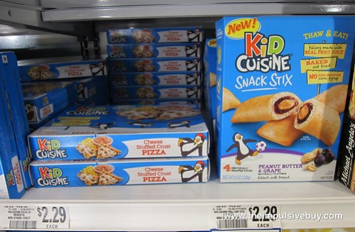 Kid Cuisine Snack Stix Peanut Butter & Grape Shelf