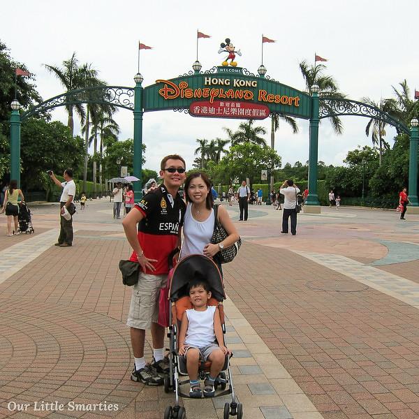 At the Disneyland Entrance