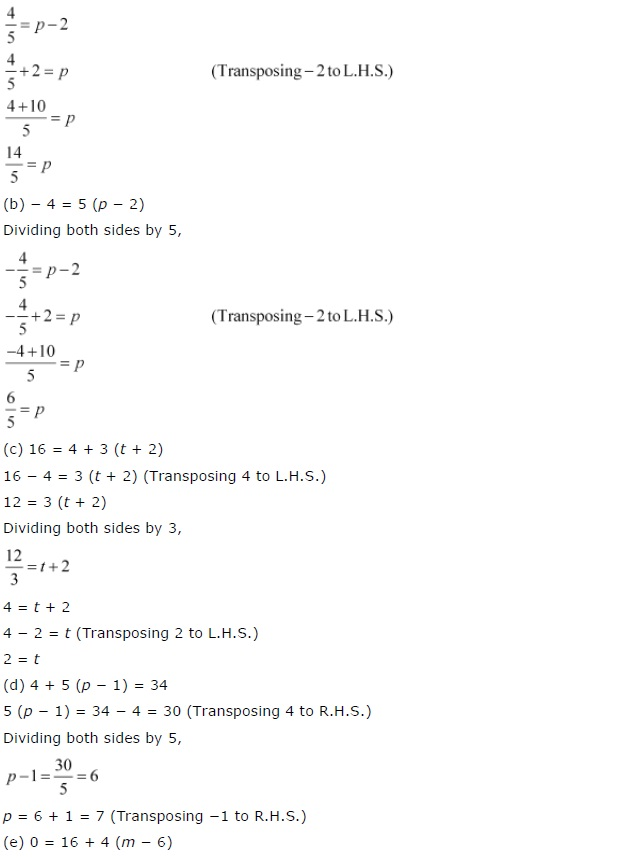 NCERT CBSE Solutions for Class 7 Maths Simple Equations Exercise 4.3