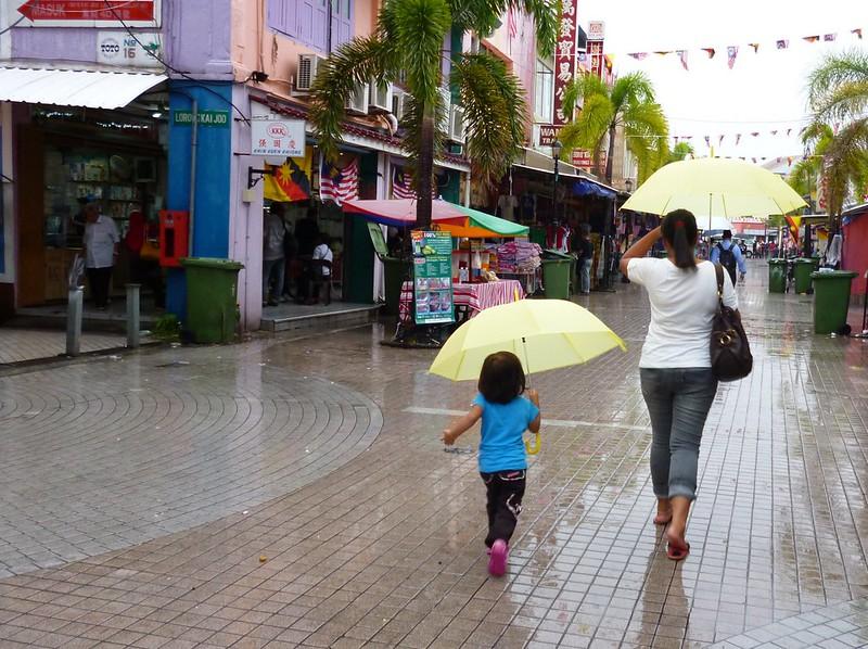 Kid and mom on India Street