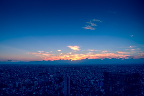 The Sunset with Mt. Fuji by hidesax