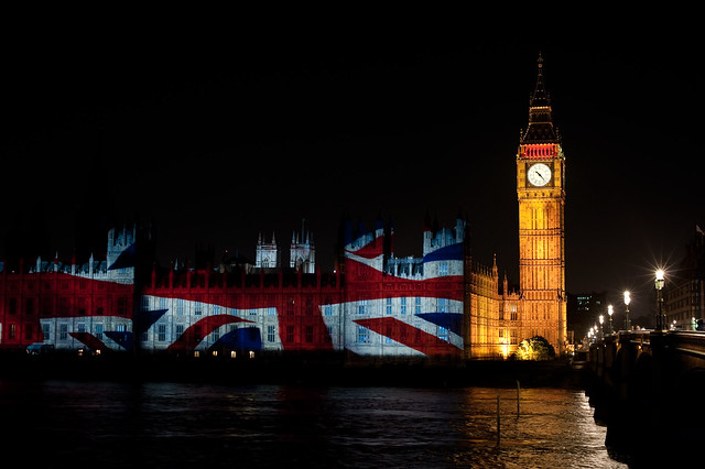 Union Flag on the Houses of Parliament/Paralympic Projections (9)