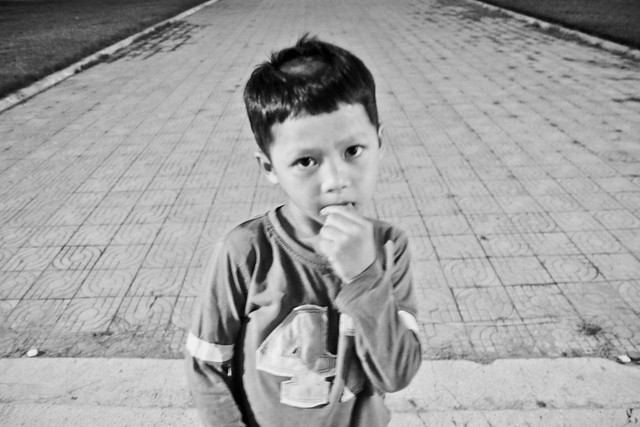 cambodian boy in the capital