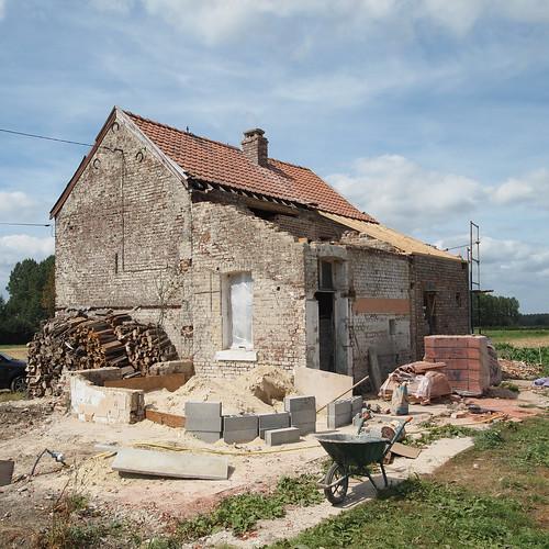 Mercredi : le toit de la cuisine est démonté !