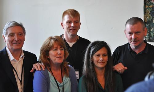 Gordon Brown, Frank Muir, Anna Smith, Sara Sheridan and John Gordon Sinclair