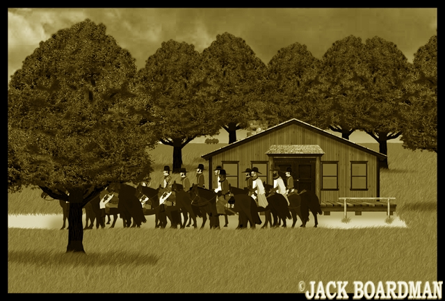 They left from the McCulloch Ranch ©2012 Jack Boardman