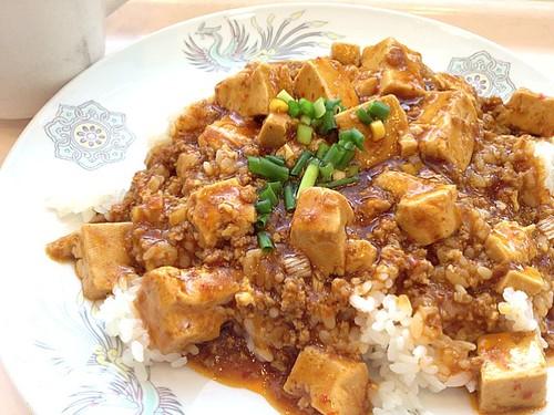 今日の社食は麻婆豆腐丼。390円( ´ ▽ ` )ノ