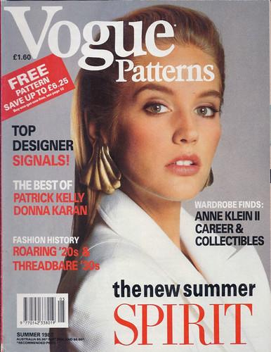 Vogue Patterns magazine, Summer 1988