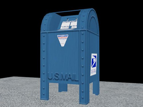 Post Office Mail Box Front View