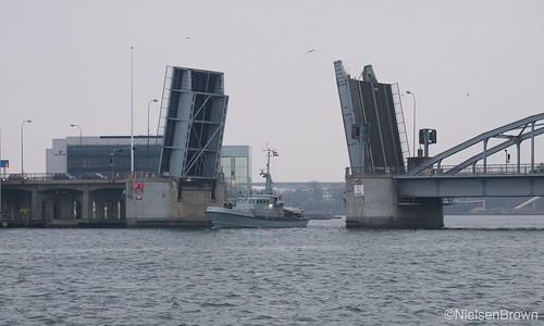 Navy passing through Sønderborg