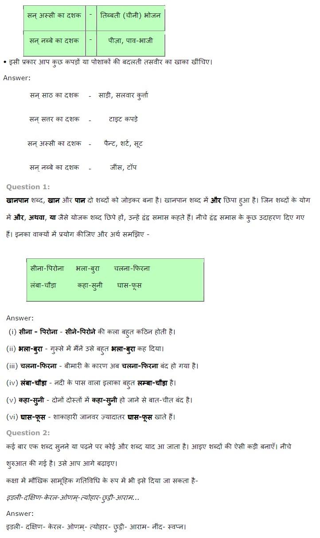 NCERT Solutions for Class 7th Hindi Chapter 14 खानपान की बदलती तस्वीर PDF Download Free 2018-19