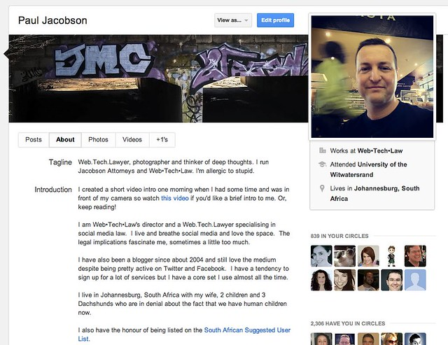2012-09-19 Google Plus profile page