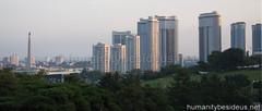 Pyongyang Mansudae area at dusk