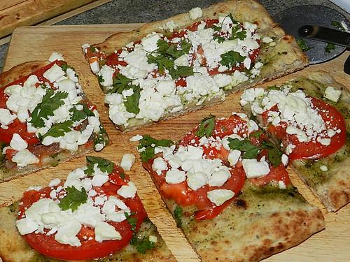 Pesto, Tomatoe & Feta Pizza (3)