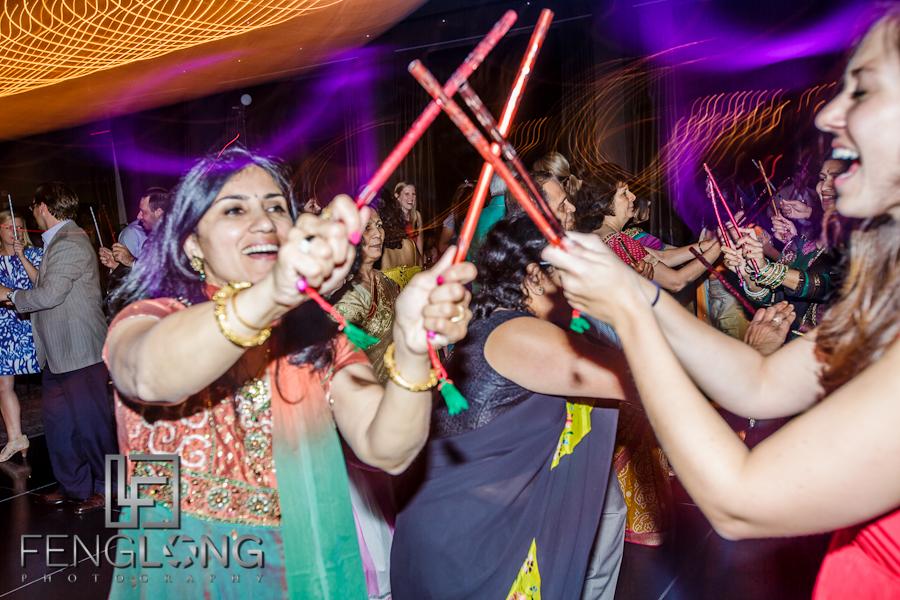 Dandiya Raas Dancing at Reesha & Neil's Hindu Wedding Reception | W Hotel Midtown | Atlanta Indian Wedding Photographer