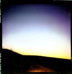 Lubitel photo at twilight in UK countryside