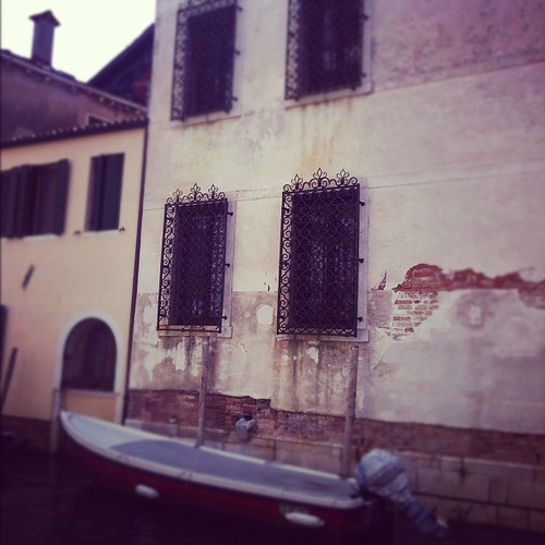 I love the iron lacework on the windows in Venice.