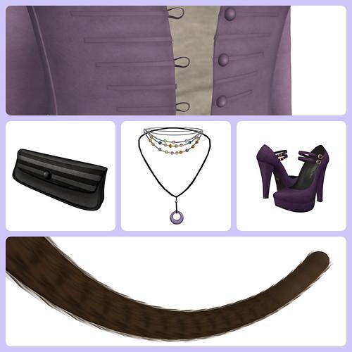 Purple Autumn Collage