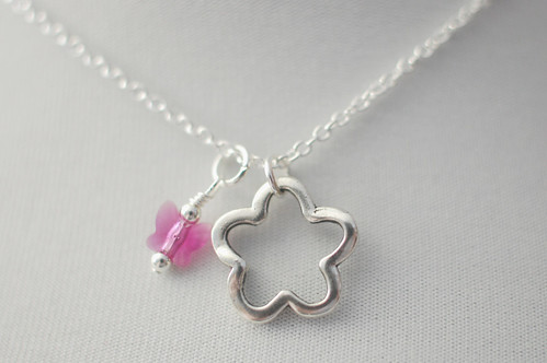 Butterfly Garden Charm Necklace - Leah 9/12