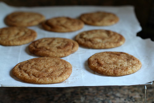 brown butter snickerdoodles, cooling