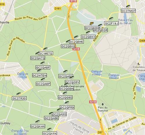 géocaching forêt Meudon Ile-de-France