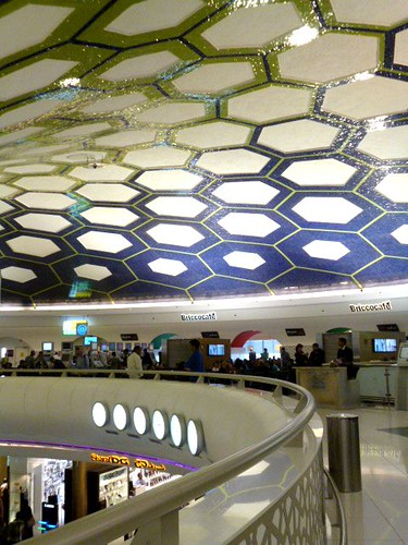 General Views of Abu Dhabi Airport - Column radiating onto ceiling by Angela Seager