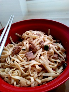 Sate pork noodle