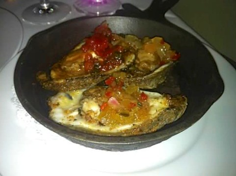 Blackened Oysters Olde PInk House