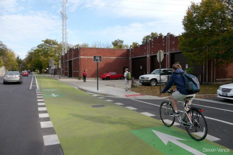 Church Street cycle track in Evanston