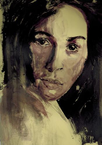 woman by husdant