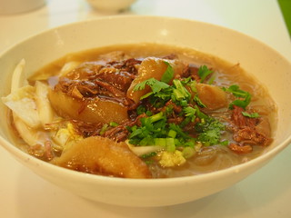 Braised brisket of beef in soup