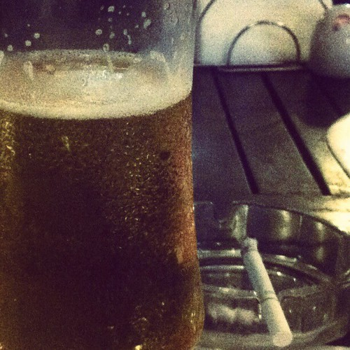 Beer and cig #iPhone
